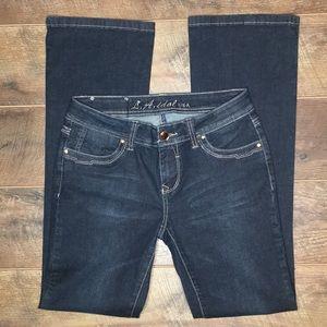 L.A. idol Embellished Bootcut Jeans